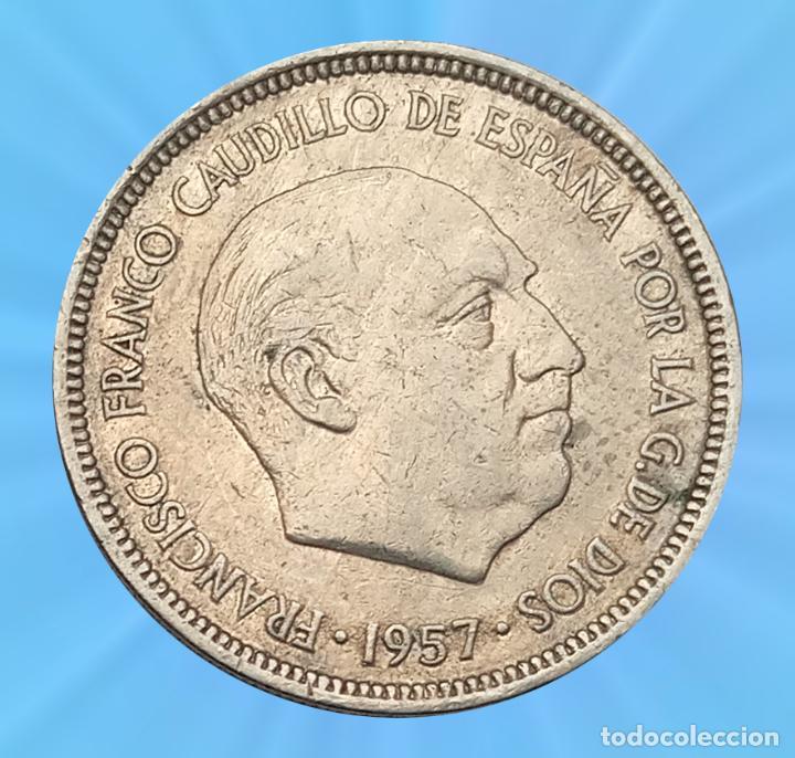ERROR COSPEL EN CUÑA 5 PESETAS 1966 ESTADO ESPAÑOL FRANCO MONEDA (Numismática - España Modernas y Contemporáneas - Variedades y Errores)