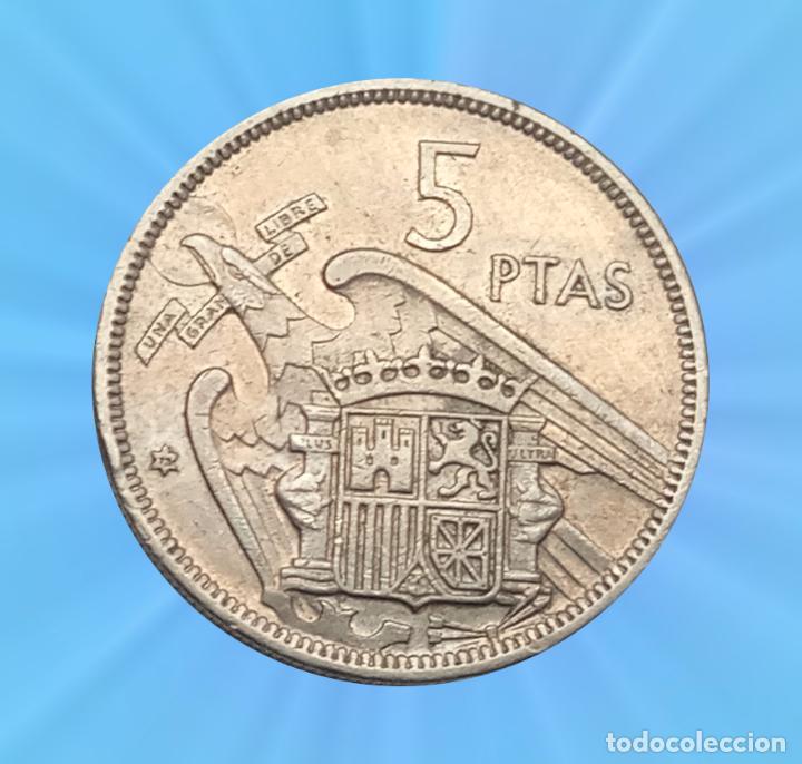 Monedas con errores: Error Cospel en Cuña 5 pesetas 1966 Estado español Franco moneda - Foto 2 - 193810261