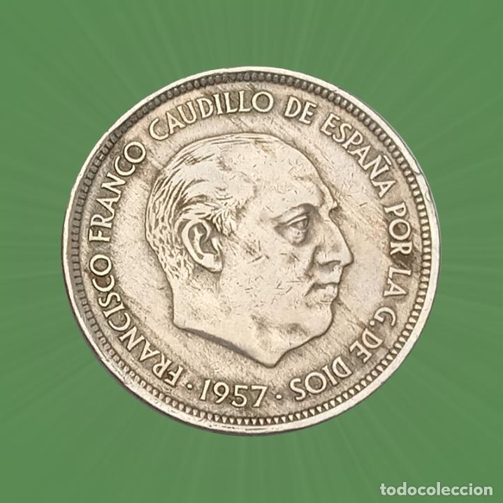 Monedas con errores: Error 50 pesetas 1967 Estado español Franco moneda falta parte de la orla de puntos - Foto 2 - 193847327