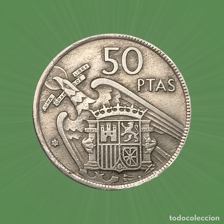 ERROR 50 PESETAS 1967 ESTADO ESPAÑOL FRANCO MONEDA FALTA PARTE DE LA ORLA DE PUNTOS (Numismática - España Modernas y Contemporáneas - Variedades y Errores)