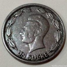 Monedas con errores: RARA ( MONEDA ERROR ACUÑACIÓN , UN SUCRE DE 1964 ECUADOR ). MÁS MONEDAS ANTIGUAS EN MI PERFIL.. Lote 180501006
