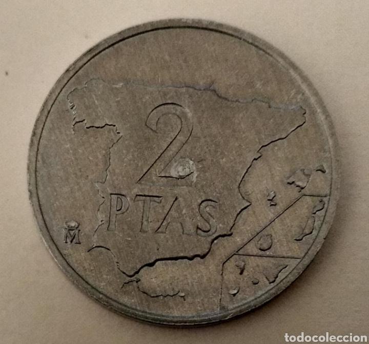 Monedas con errores: ÚNICA ( PRUEBA 2 PESETAS 1982 JUAN CARLOS I ) VER FOTOGRAFÍAS. - Foto 5 - 194011587