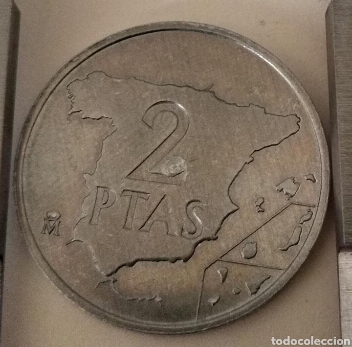 Monedas con errores: ÚNICA ( PRUEBA 2 PESETAS 1982 JUAN CARLOS I ) VER FOTOGRAFÍAS. - Foto 6 - 194011587