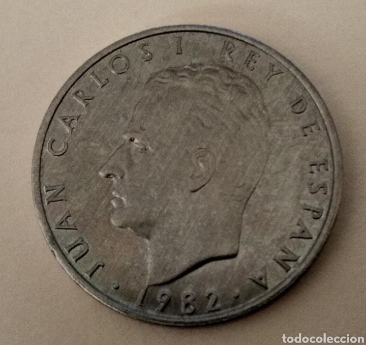 Monedas con errores: ÚNICA ( PRUEBA 2 PESETAS 1982 JUAN CARLOS I ) VER FOTOGRAFÍAS. - Foto 7 - 194011587