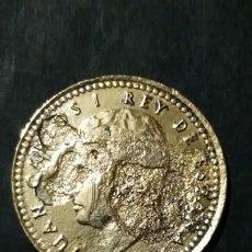Monedas con errores: IMPRESIONANTE MONEDA DE UNA PESETA DE 1975 E.80 ERROR. Lote 195151915