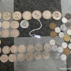Monedas con errores: GRAN LOTE DE MONEDAS ESPAÑOLAS EN LAS QUE HAY FALSAS Y ORIGINALES DE ÉPOCA ,. Lote 195198270