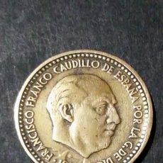 Monedas con errores: MONEDA DE 1 PESETA 1953 ESTRELLA 62 ERROR. Lote 195397617