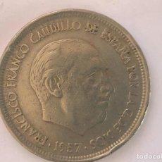 Monedas con errores: 50 PESETAS 1957*58 ERROR. Lote 195700637