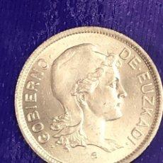 Monedas con errores: 2 PESETAS 1937 GOBIERNO EUSKADI ERROR PIEL DE NARANJA. Lote 196455458