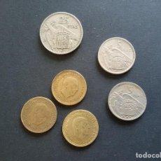 Monedas con errores: VARIEDAD Y ERRORES EN MONEDAS DE FRANCO. Lote 198051792