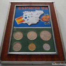 Monedas con errores: LOTE DE 6 MONEDAS DE PESETAS ENMARCADAS , CONMEMORATIVAS MUNDIAL DE FUTBOL ESPAÑA 82 , NARANJITO. Lote 198396461
