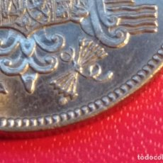 Monedas con errores: CINCO PESETAS FRANCO 1949 *50. EXCESO METAL. Lote 199515042