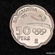 Monedas con errores: 50 PESETAS 1992.SC.VARIANTE LA PEDRERA.CUÑO PARTIDO.GROSORES EN LA LEYENDA. Lote 212376836