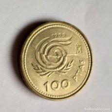 Monnaies avec erreurs: ## ERROR 100 PESETAS 1999 PERLAS UNIDAS ##. Lote 201139875