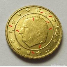 Monedas con errores: ## ERRORES Y VARIANTES # BÉLGICA 10 CÉNTIMOS 2001 CUÑO ROTO ##. Lote 201549203