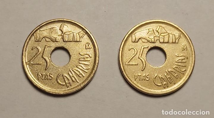 Monedas con errores: ERROR 25 PESETAS 1997 VARIANTE CANARIAS - Foto 3 - 202666153