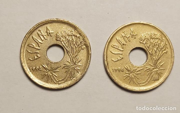 Monedas con errores: ERROR 25 PESETAS 1997 VARIANTE CANARIAS - Foto 4 - 202666153