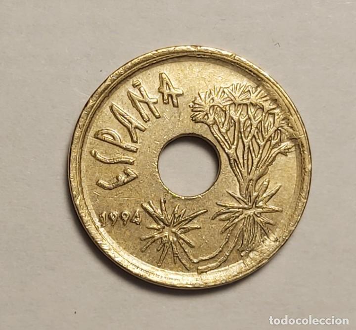 Monedas con errores: ERROR 25 PESETAS 1997 VARIANTE CANARIAS - Foto 6 - 202666153