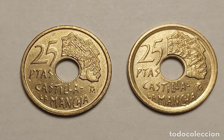 Monedas con errores: ERROR 25 PESETAS 1996 VARIANTE CANTO ANCHO - Foto 3 - 202666537