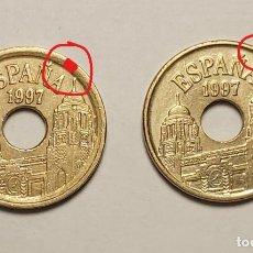 Monedas con errores: ERROR 25 PESETAS 1997 VARIANTE CANTO ANCHO. Lote 202666688