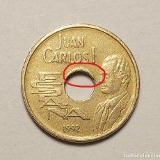 Monedas con errores: ERROR 25 PESETAS 1997 VARIANTE AGUJERO LIGERAMENTE DESPLAZADO. Lote 202666843