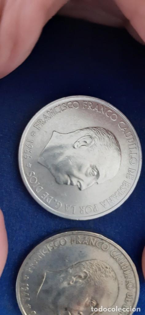 Monedas con errores: LOTE 2 MONEDA PLATA 100 PESETAS FRANCO 1966 19 67 ERROR DIFERENCIA PALO RECTO CURVO. IMPORTANTE LEER - Foto 5 - 204532388