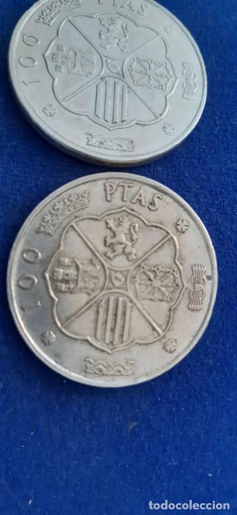 Monedas con errores: LOTE 2 MONEDA PLATA 100 PESETAS FRANCO 1966 19 67 ERROR DIFERENCIA PALO RECTO CURVO. IMPORTANTE LEER - Foto 8 - 204532388