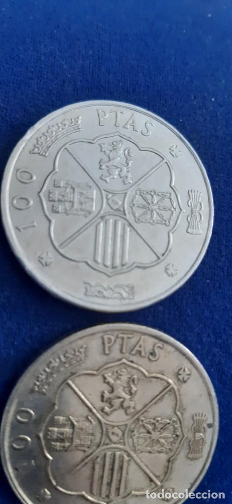 Monedas con errores: LOTE 2 MONEDA PLATA 100 PESETAS FRANCO 1966 19 67 ERROR DIFERENCIA PALO RECTO CURVO. IMPORTANTE LEER - Foto 9 - 204532388