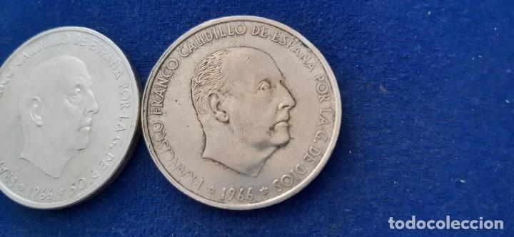 Monedas con errores: LOTE 2 MONEDA PLATA 100 PESETAS FRANCO 1966 19 67 ERROR DIFERENCIA PALO RECTO CURVO. IMPORTANTE LEER - Foto 10 - 204532388