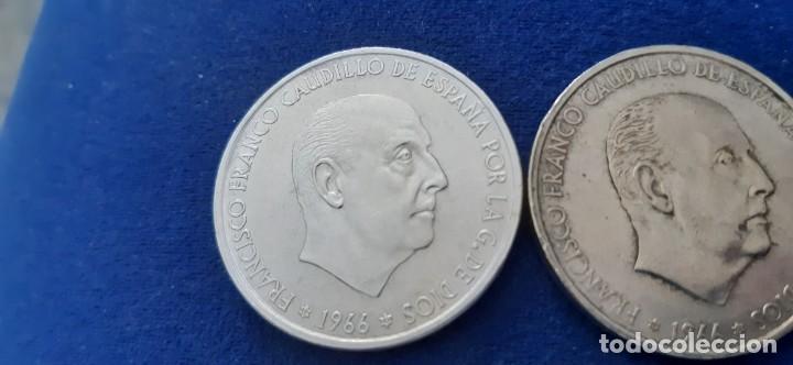 Monedas con errores: LOTE 2 MONEDA PLATA 100 PESETAS FRANCO 1966 19 67 ERROR DIFERENCIA PALO RECTO CURVO. IMPORTANTE LEER - Foto 11 - 204532388