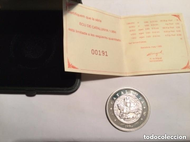 SANT JORDI - 5 ECU CATALUNYA 1994 -PLATA 925- 4 CM.- TIRADA 10.000 (Numismática - España Modernas y Contemporáneas - Variedades y Errores)