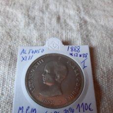 Monedas con errores: ESPAÑA 1888 *18*88 MPM ALFONSO XIII PELÓN EBC NUMISMÁTICA COLISEVM. Lote 204764615
