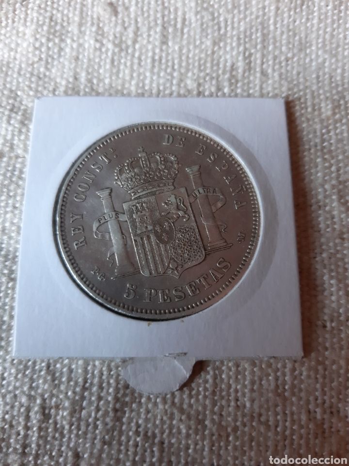 Monedas con errores: España 1891*18*91 PGM PLUS ULTRA 5 PESETAS ALFONSO XIII. NUMISMÁTICA COLISEVM - Foto 2 - 204765331