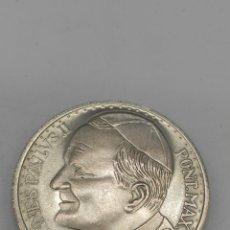 Monnaies avec erreurs: MONEDA PLATA. VIAJE DEL PAPA A ESPAÑA.. Lote 208676888