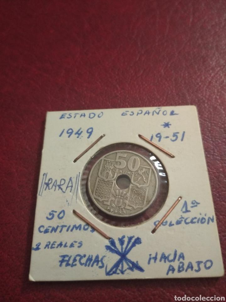50 CENTIMOS ( 2 REALES ) ( ERROR FLECHAS HACIA ABAJO ) 1951 - ESPAÑA (Numismática - España Modernas y Contemporáneas - Variedades y Errores)