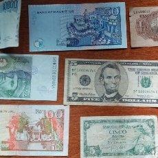 Monedas con errores: LOTE DE 7 BILLETES. Lote 210945475