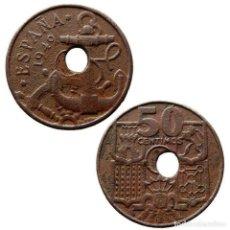 Monedas con errores: ERROR 50 CENTIMOS 1949, AGUJERO DESPLAZADO. 498-L. Lote 212080373