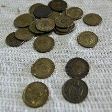 Monedas con errores: 25 MONEDAS DE 1 PESETAS. Lote 212255376