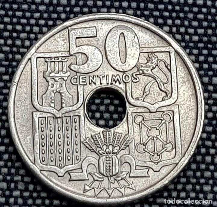 50-CENTIMOS-1949-51 VARIANTE FLECHAS INVERTIDAS, MUY RARA PESO 3,99 (Numismática - España Modernas y Contemporáneas - Variedades y Errores)