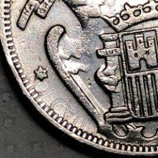 Monedas con errores: 5 PTS 1957 CON ERROR EN REVERSO LETRAS JUNTO A LA ESTRELLA. Lote 215174316