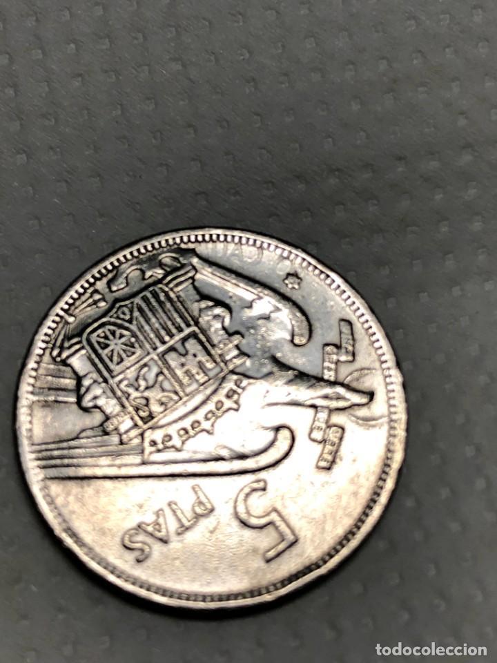 Monedas con errores: 5 PTS 1957 con ERROR en reverso Letras junto a la estrella - Foto 3 - 215174316