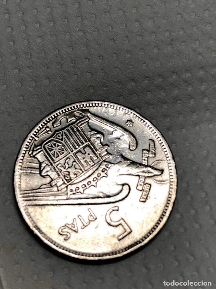 Monedas con errores: 5 PTS 1957 con ERROR en reverso Letras junto a la estrella - Foto 4 - 215174316