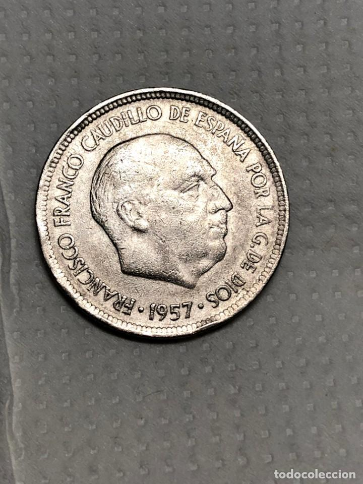 Monedas con errores: 5 PTS 1957 con ERROR en reverso Letras junto a la estrella - Foto 9 - 215174316