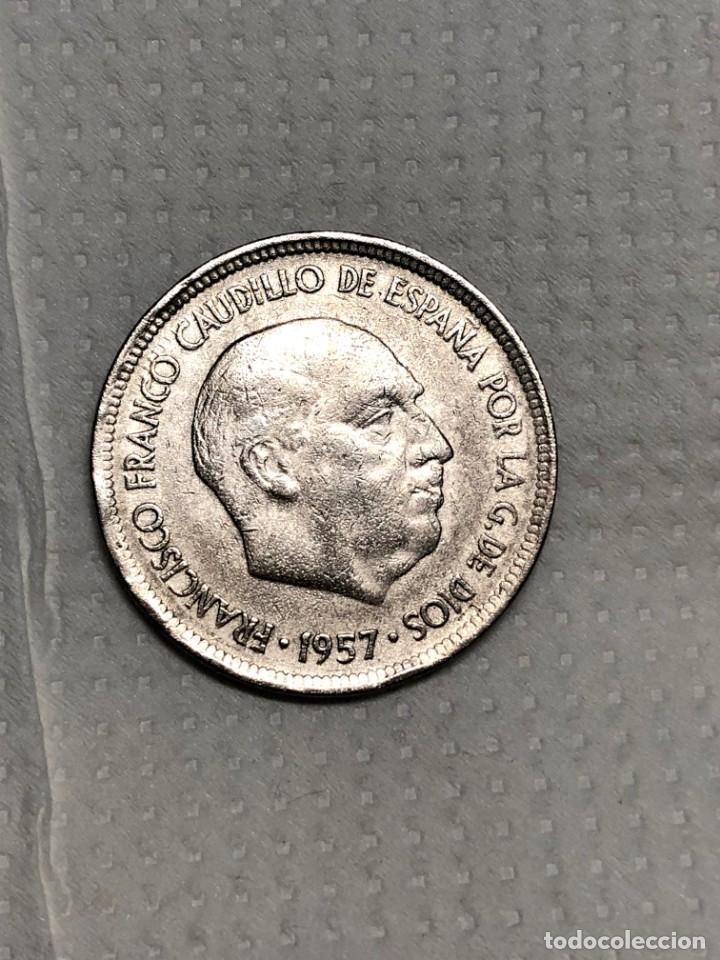 Monedas con errores: 5 PTS 1957 con ERROR en reverso Letras junto a la estrella - Foto 10 - 215174316