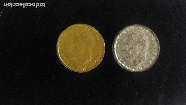 Monedas con errores: Monedas falsas de época 100 pesetas Juan Carlos I - Foto 2 - 215519740