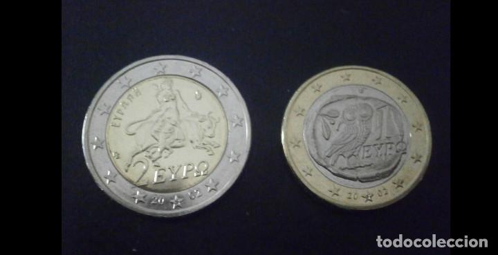 GRECIA LOTE 2+1 EUROS 2002 SIN CIRCULAR CECA S (Numismática - España Modernas y Contemporáneas - Variedades y Errores)