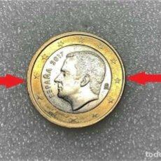 Monedas con errores: ERROR VARIANTE ACUÑACION DESPLAZADA 1 EURO ESPAÑA 2017 (SPAIN ERROR COIN). Lote 217344673