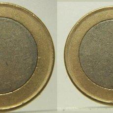 Monedas con errores: COSPEL DE 1 EURO SIN ACUÑAR CANTO SIN ACUÑAR. Lote 219019211