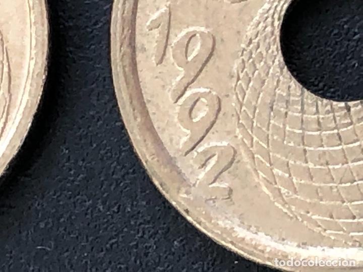 Monedas con errores: 25 pesetas 1992 cuño diferente, listel, exceso metal múltiples errores - Foto 7 - 220187540