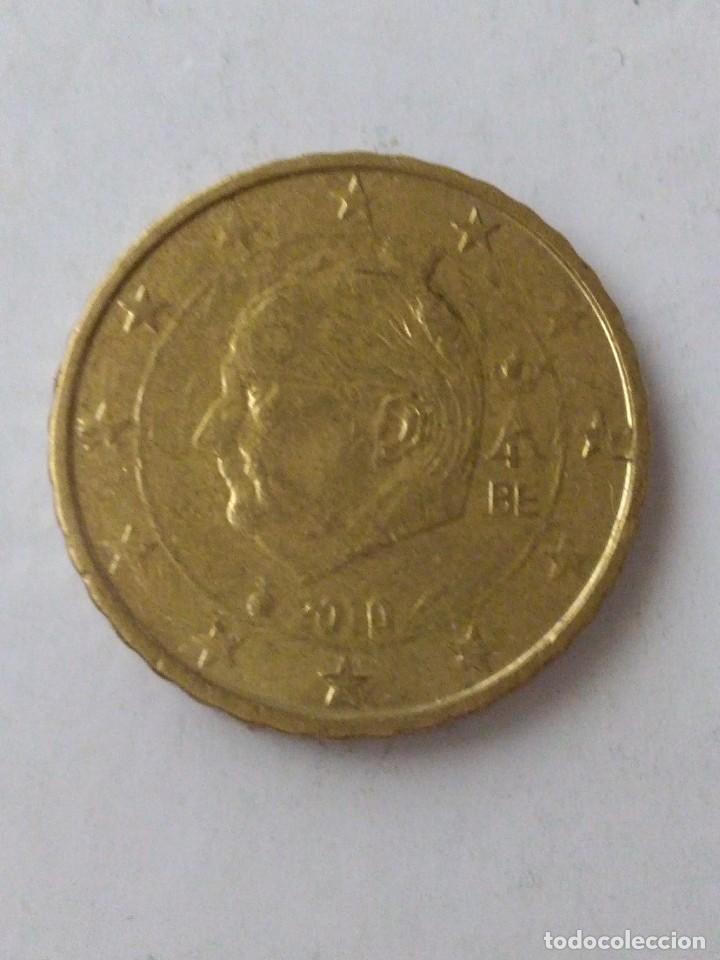 MONEDA 10 CENTIMOS DE EURO ERROR EXCESO METAL BELGICA 2010.CIRCULADA. (Numismática - España Modernas y Contemporáneas - Variedades y Errores)